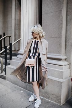 ALL IMAGES EMMY LOWE PHOTO JACKET GANNI (LOVE THIS ANN TAYLOR TRENCH)   STRIPED FLUID TEE C/O ANN TAYLOR   STRIPED SKIRT C/O ANN TAYLOR   BAG CHLOE   SCARF ANN TAYLOR(ALSO LOVE THIS ONE!)   EYEWE…