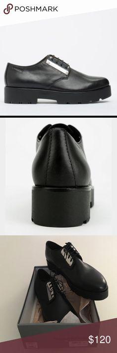 Vagabond Aurora Black Ladies Oxfords - Vagabond Black Genuine Leather.  Vagabonds run on the small 8a4bd83282