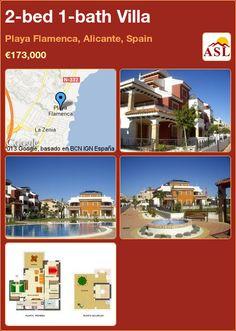 2-bed 1-bath Villa in Playa Flamenca, Alicante, Spain ►€173,000 #PropertyForSaleInSpain