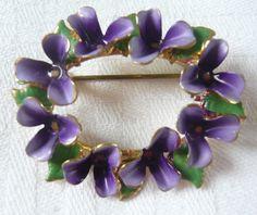 violets brooch