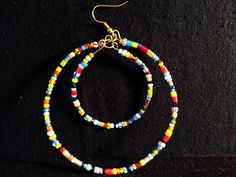 Double Loops African Christmas Beads