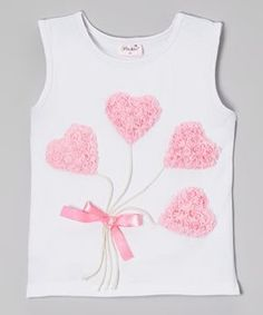 Take a look at this White Heart Balloon Tank - Infant, Toddler & Girls on zulily today! Sewing For Kids, Baby Sewing, Polo Outfit, Girls Dresses, Flower Girl Dresses, Flower Girls, Vetement Fashion, Heart Balloons, Diy Shirt
