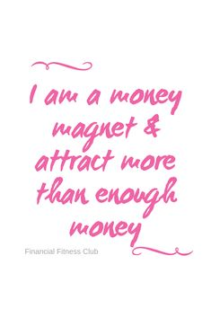 "Wealth affirmation ""I am a money magnet & attract more than enough money"" Use daily to help improve your money mindset. Printed onto a book in Pink, Lilac or Purple. Ships from the UK to international Wealth Affirmations, Law Of Attraction Affirmations, Law Of Attraction Quotes, Positive Affirmations, Law Of Attraction Money, Positive Thoughts, Positive Quotes, Words Of Affirmation, A Course In Miracles"