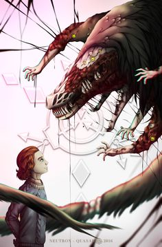 """SCP Foundation: (He Feels Your Pain) & (Hard to Kill Reptile). """"Feels your pai. Seeing these two in one picture somehow really gave me feels. Scp Cb, Creepy Monster, Anime Galaxy, Mexico Art, Arte Horror, Creepypasta, Fantasy Creatures, Art Pictures, Fantasy Art"""