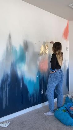 Mural Wall Art, Diy Wall Art, Creative Wall Painting, Abstract Painting Techniques, Gold Leaf Art, Wall Design, Home Interior Design, Decoration, Dried Pears