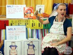 Ms. Brady posted a wonderful report of her class enjoying Mrs. Wishy-Washy. We, of course, had to post about her on our blog! *Click on the image