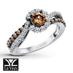 Jared - LeVian Chocolate Diamonds 1 ct tw Ring 14K Vanilla Gold