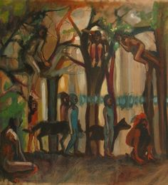 """Saatchi Art Artist Emilie Lagarde; Painting, """"La queue du loup"""" #art 27.6 H x 27.6 W, $800"""