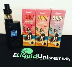 The Latest Brand Launching this weekend on our New Website. #ONO! A Max VG, Premium ELiquid Brand Available in Three Different Flavors. Original which is a Delicious Coconut Milk, Then Coconut Milk with Strawberry, and an amazing mix, Coconut Milk with Mango!!! -------------- www.ELiquidUniverse.com -------------- #over18 #vape #vapelife #vapefam #vapeporn #vapestagram #vapelyfe #eliquids #cloudchasing #ejuice #vapers #dragonliquids #cbd #vapestore #vapedaily #vapenation #vapepics #vapelove…