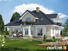 projekty domow - Google Search Home Building Design, Building A House, Dream House Plans, My Dream Home, Architectural Design House Plans, Architecture Design, House Outside Design, Modern Bungalow House, Caribbean Homes