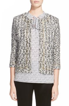 St. John Collection 'Amour' Embellished Tweed Jacket
