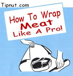 Wrapping meat like a pro! Protect against freezer burn and preserve quality.