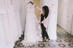 RIME ARODAKY BARCELONA SHOWROOM Rime Arodaky, Lace Wedding, Wedding Dresses, Showroom, Barcelona, Fashion, Wedding Dress Lace, Bridal Gowns, Bridal Collection