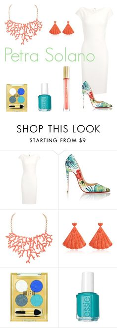 """""""Petra Solano"""" by teaandcupcakes22 ❤ liked on Polyvore featuring Roland Mouret, Christian Louboutin, Humble Chic, Mariah Rovery, Milani, Essie and Max Factor"""