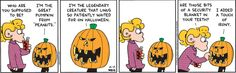 The Great #Pumpkin! | Read FoxTrot #comics @ www.gocomics.com/foxtrot/2005/10/25?utm_source=pinterest&utm_medium=socialmarketing&utm_campaign=social-pin-crossover-peanuts65 | #GoComics #webcomic #Peanuts #costume