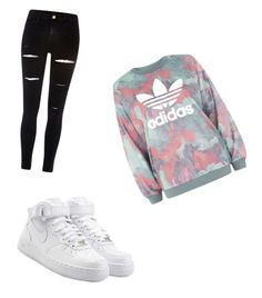 """""""My go to style!"""" by livmooney ❤ liked on Polyvore featuring NIKE, River Island and adidas"""