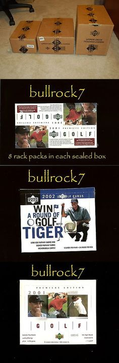 Golf Cards 4240: 2001 2002 Upper Deck Golf + 2001 Rack 12 Box Case Tiger Woods Rc Auto Sp Preview -> BUY IT NOW ONLY: $495 on eBay!
