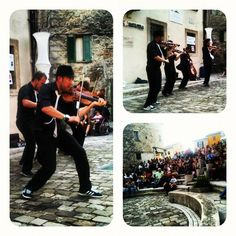 Violins show in Pennabilli - Instagram by @n_montemaggi
