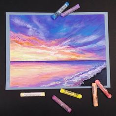 Draw Soft Pastel for Beginners Chalk Art Beginners Pastel pastel Chalk art S ., Chalk is this kind of fun way to be creative! It's an attractive texture, many colors, and can be, Soft Pastel Art, Chalk Pastel Art, Pastel Artwork, Pastel Sky, Oil Pastel Paintings, Oil Pastel Drawings, Chalk Pastels, Chalk Art, Oil Pastels