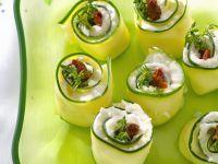 Rezept: Gurken-Frischkäse-Röllchen
