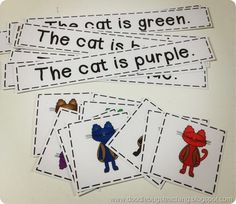 Cats and color words.
