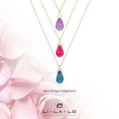Ακαταμάχητα Mini drops! Drop, Pendant Necklace, Jewels, Mini, Collection, Gemstones, Jewerly, Jewlery, Gems