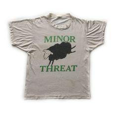 1983 Minor Threat vintage band T-shirt S Black flag by Teejerker