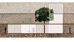Fotomontaje pabellones viviendas invitados