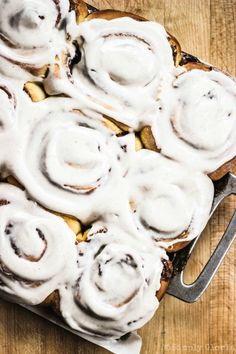 Sweet swirls of cinnamon and pumpkin pie spice tucked inside puffy pumpkin sweet dough. Do you want to know what the best thing about these Pumpkin Cinnamon Rolls are... besides being extremely del...