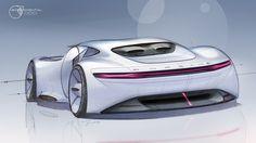 Porsche on Behance - CarSketches - Autos Car Design Sketch, Car Sketch, Design Cars, Auto Design, New Luxury Cars, Porsche Design, Car Drawings, Expensive Cars, Transportation Design