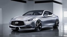 The first official image of the Infiniti Concept has been released prior to its debut next week at the North American International Auto Show in Detroit. Infiniti provided no additional details about this precursor to an all-new 2016 Coupe. Model Auto, Toyota, 2015 Infiniti, Infiniti Q50, Honda, Detroit Auto Show, Hyundai Genesis, Car Deals, Nissan Silvia