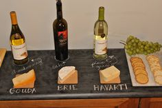 Wow your guests with the perfect wine&cheese pairings using Erstwhile Mercantile's vinyl wall decal. www.ErstwhileMercantile.com