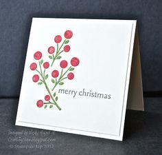 Stampin' Up ideas and supplies from Vicky at Crafting Clare's Paper Moments: NEWS - and Three Minute Bright Blossoms