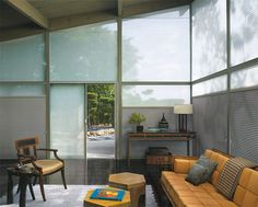 Beautiful comfort. Hunter Douglas insulating shades keep your home warmer in winter and cooler in summer.