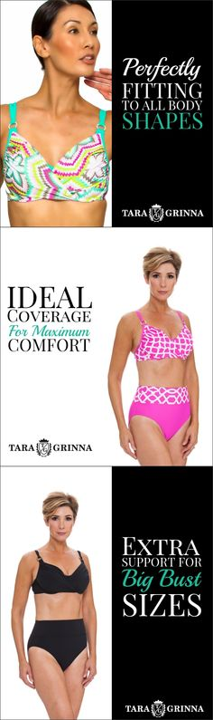 ★★★★★ PERFECT! Tara Grinna never disappoint! I order the matching bottom too. I also got the same style set in light green.They all fit perfect in every way,very good coverage, sexy and stylish at the same time. Perfect for women at any age, shape and form. This is the only place I purchase all of my swimming suits! Natasa A. Floral Underwire Cup Sized Top $68.60 Pink and White Cup Sized Top $98.00 Black Underwire Cup Sized Top $92.00 Shop now at…