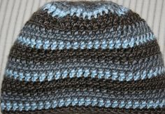 "3 mo+ infant baby boy crochet winter hat cap beanie blue brown jsuey123 18"" #handmadebyjsuey123 #Crocheted"