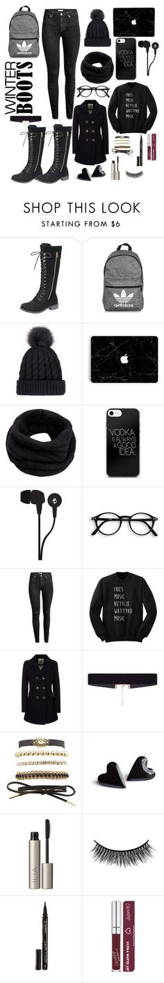 """""""Winter Excursion"""" by cammy-ds ❤ liked on Polyvore featuring adidas, Helmut Lang, Skullcandy, H&M, Geox, 8 Other Reasons, Charlotte Russe, Ilia, Battington and Smith & Cult"""
