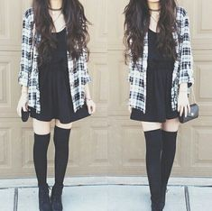 Love the plaid and the comfy looking dress
