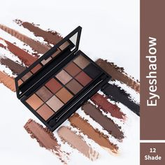 Nykaa Just Wink It! 12 in 1 - Eyeshadow Palette - Double Chocolate Chip: Buy Nykaa Just Wink It! 12 in 1 - Eyeshadow Palette - Double Chocolate Chip Online at Best Price in India | Nykaa Peachy Eyeshadow, Eyeshadow Palette, Peach Sorbet, Caramel Crunch, Pink Sale, Red Carpet Ready, Makeup Must Haves, Angel Eyes, Smudging