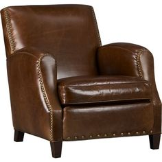 Metropole Leather Chair in Chairs | Crate and Barrel
