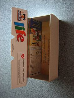 Gift box from a cereal box, i do this all the time, with a simple box you can make lots of different gifting boxes