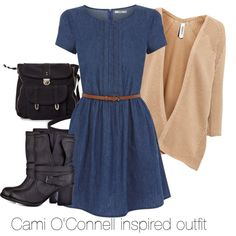Cami O'Connell inspired outfit/The Originals by tvdsarahmichele on Polyvore featuring Oasis, Pull&Bear, BCBGeneration, Pieces, to, TheOriginals and camio