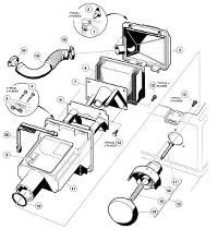 1997 club car 48v forward and reverse switch wiring diagram | Club Wiring Diagram For Volt Club Car Golf Cart With Electric Reversing Cotactor on