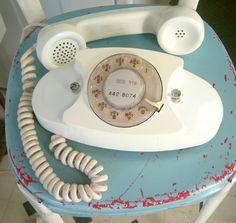 Vintage white Princess rotary phone // ORIGINAL by scoutandrescue, $46.00
