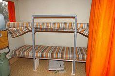 Stapelbed Retro Caravan, Outdoor Life, Bunk Beds, Boats, Retro Vintage, Camping, Furniture, Home Decor, Aliner Campers
