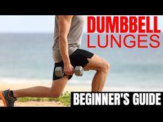How to Do Dumbbell Lunges Properly for Men – The Beginner's Guide – Fitness Dumbbell Exercises For Men, Dumbbell Workout, Muscle Building Program, Gymnastics Workout, Muscle Groups, Build Muscle, Lunges, Fitness Goals, Mens Fitness