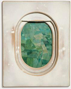 airplane window paintings by jim darling