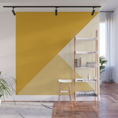 Design your everyday with removable wall murals you'll love. Make a bold statement in your home with artwork from independent artists worldwide. Yellow Accent Walls, Accent Walls In Living Room, Accent Wall Bedroom, Living Room Decor, Bedroom Murals, Wall Murals, Bedroom Decor, Wall Decor, Mustard Walls