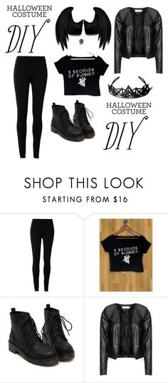 """""""5 Seconds Of Summer Death Angel"""" by desertunknownwolf ❤ liked on Polyvore featuring Dickies, Max Studio, Zizzi and diycostume"""