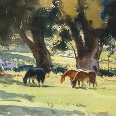 """Mike Kowalski on Instagram: """"My youngest brother was named after a horse. """"The Convent Herd"""" 16x12 watercolor on 300 lb Saunders Waterford rough #watercolorpainting…"""""""